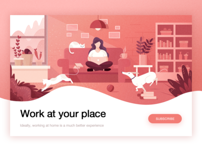 Freelancing is at home