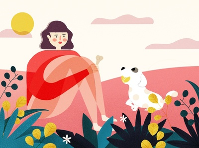 A person's life -- a girl who likes animals