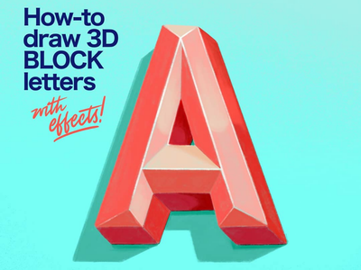Draw 3D Block Letters tutorials handlettering illustration design signpainting alphabet type typography lettering designermike letteringwithmike