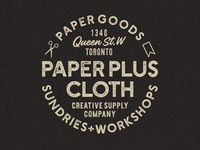 Paper Plus Cloth Logotype Design