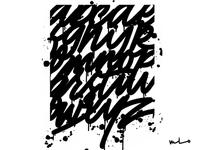 Drip Script Alphabet