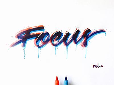 Focus toronto lettering artist graphic designer art brushlettering lettering handstyle