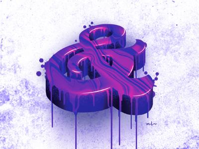 UV Ampersand procreate illustration ampersand toronto lettering artist graphic designer designermike