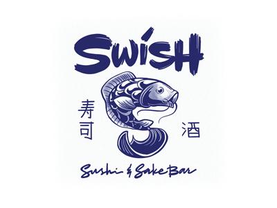 Swish branding illustration restaurant sushi logotype logo toronto lettering artist graphic designer designermike
