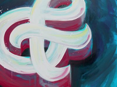 Ampers& on Blue graphic designer lettering artist design typography illustration art concept toronto lettering designermike