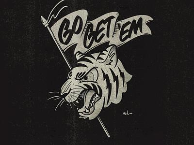 Gettem Tiger tattoon graphic illustration handlettering designermike