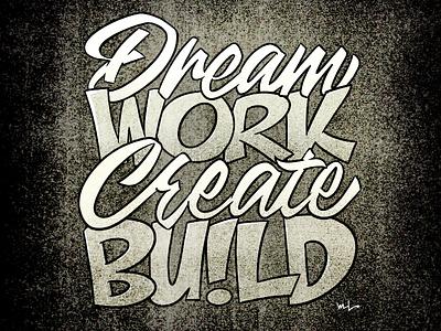 Dream Work toronto illustration graphicdesign lettering designermike