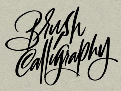 Brush Calligraphy script
