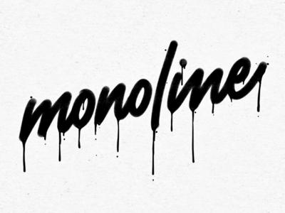Monoline script design lettering designermike