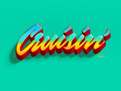 Cruisin' procreate wordmark logo typography lettering script handlettering designermike