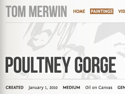 Poultney Gorge grey brown illustration paintings tan gradient fontin sans bebas neue regular