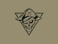 Pirate Skull Shirt Design