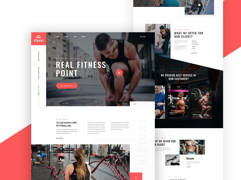 Gym Landing Page design web minimal agency landing creative fitness app uidesign website uxui clean fitness gym landing page landing page design gym
