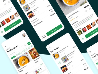 Food Delivery App clean flat order cacel order page ux app ui ios ios app design app designer food app animation app app design food delivery app