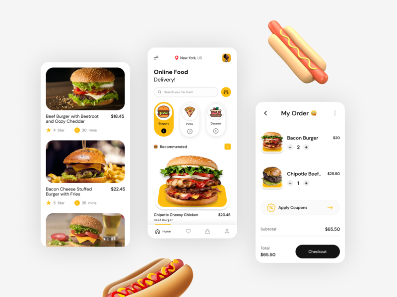 Food App uiux ui best shot trend 2020 trendy food app mobile app application app design app