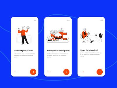 #Food App - Onboarding Screen mobile app design app design food apps orange mobile app clean design delivery app food app onboarding