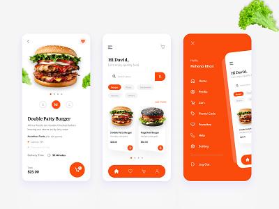 Food Delivery App creative agency app clean design minimal burger ui mobile app mobile online delivery food delivery app delivery app food app