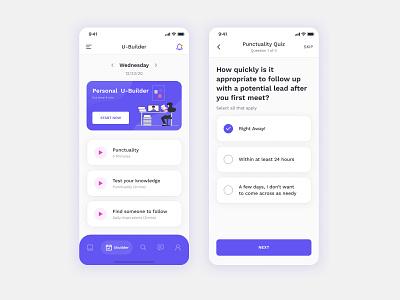 Online Learning App v2 interface design uiux ui mobile ui 2021 best app design skills online course education app mobile ios app mobile app creative minimal