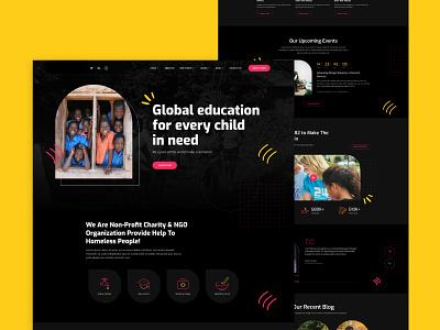 Charity - Website Design modern clean trendy ux uidesign donate website charity