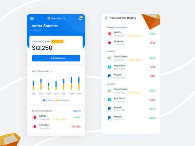 Wallet App finance trendy bank mobile wallet app mobile banking wallet app ui