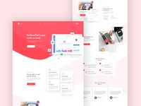 Agency Landing Page ( Color version )