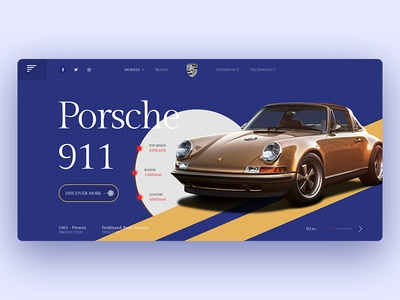 Porsche Website Design layout product agency template web design clean page ui website landing creative minimal