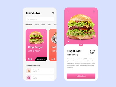 Food App design food minimal app design uiux card ui mobile app apple food ordering app card design food app app