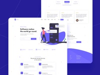 Softare Agency Landing Page