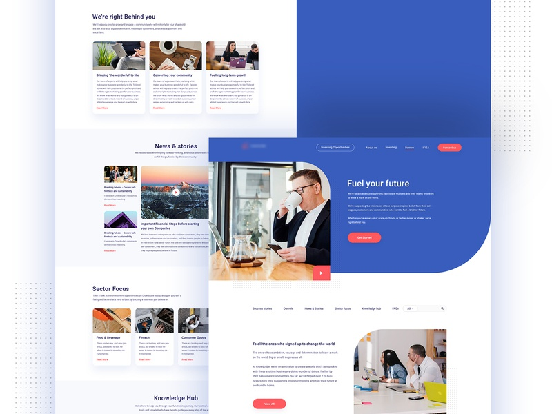 FundingTribe - Landing Page minimal typography layout website branding page design landing web creative