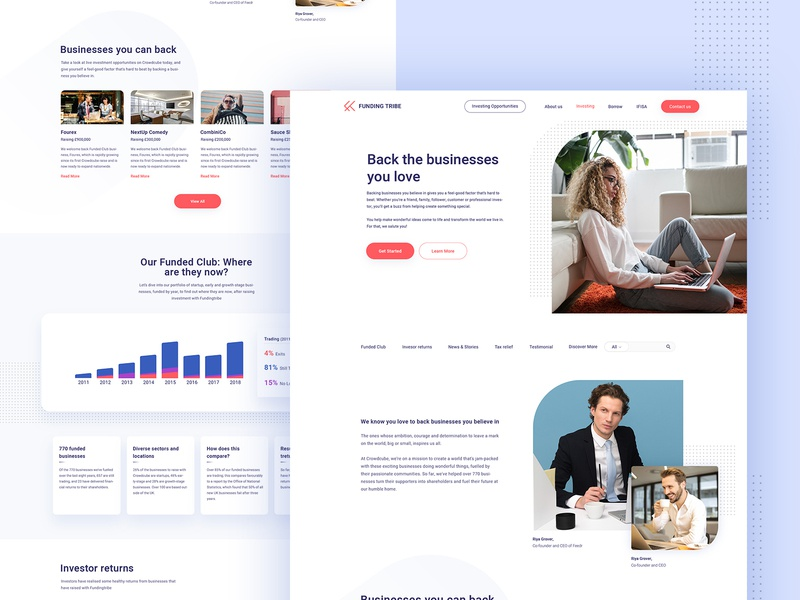 Investing Landing Page investing clean minimal page template illustration agency website landing design creative
