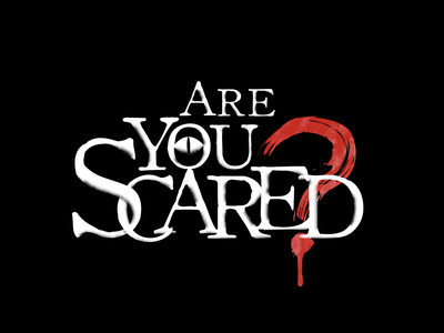 Are You Scared? logo typography illustration logo design spooky title title design logo are you scared