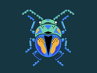 Leaf beetle illustrator shapes insect bug beetle leaf