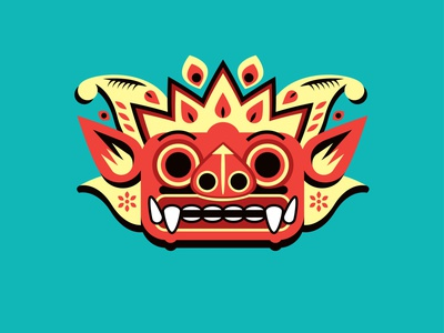 barong myth vector spirit mythical creature barong bali