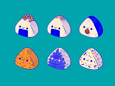 Onigiri 1 procreate illustrator kawaii cute ball rice japan japanese onigiri