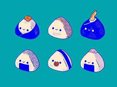 Onigiri 2 procreate food kawaii cute ball rice japan japanese onigiri