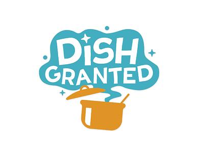 Dish Granted logo watcher youtube logo design branding logo wish granted dish
