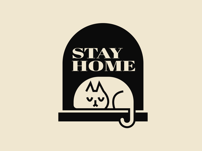 stay home vector illustrator home animal cute illustration