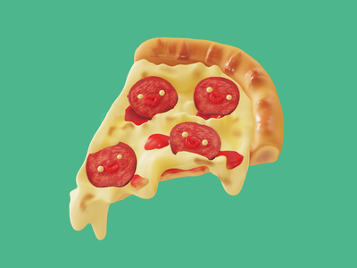 pepperoni pizza cheese nomad pepperoni cute food 3d art 3d pizza