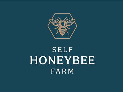 Honeybee Farm logo honey farm insect honey label honey bee bee logo stamp honeybee bee honey