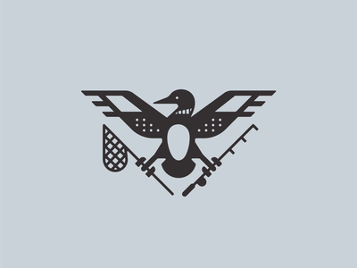 Loon Fisher bird outerwoods lake fishing fish loon