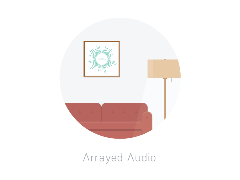 Arrayed Audio2 product illustration arrayed audio artwork lamp couch etsy array forty45