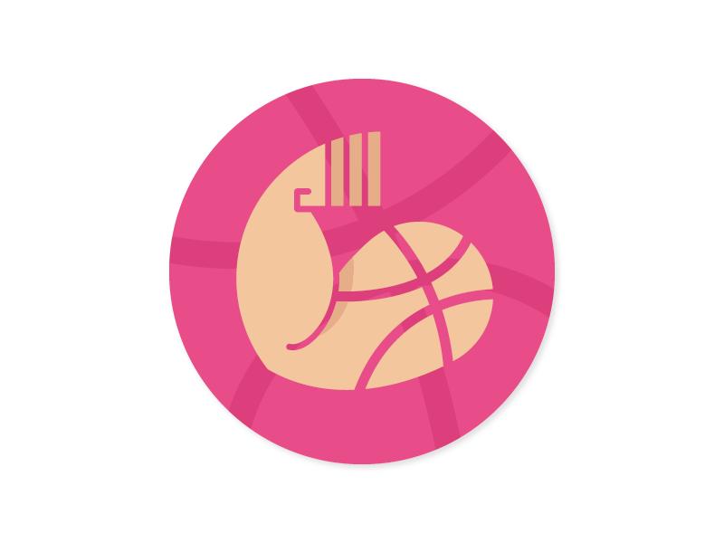 Dribbble Baller muscles dribbble logo ballin baller sticker mule stickermule playoff dribbble