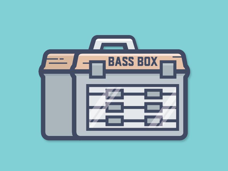 Bass box dribbble