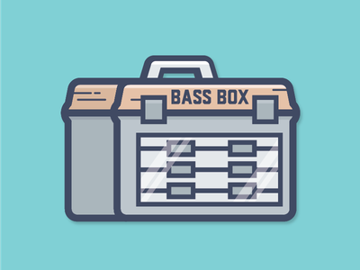 Bass Box de516n 516design sticker fish box tackle box largemouth bass fishing fishing bass