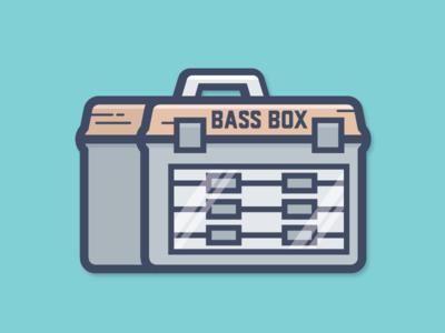 Bass Box de516n 516design sticker fish box tackle box largemouth bass fishing fishing bass