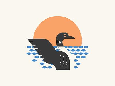 Loon Lover animal summer lake bird bird design bird bird shirt loon shirt lake loon