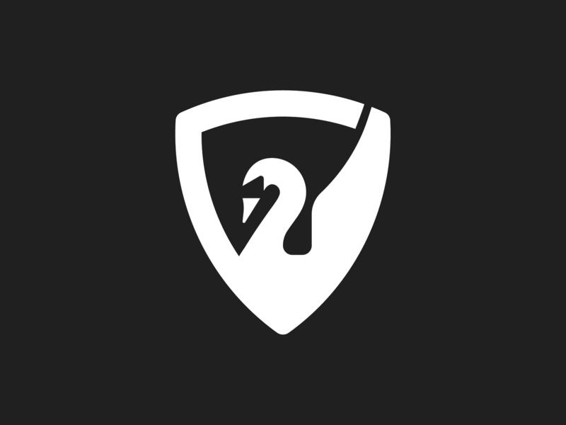 Swan Logo logo bike badge bird shield swan logo bird logo shield swan