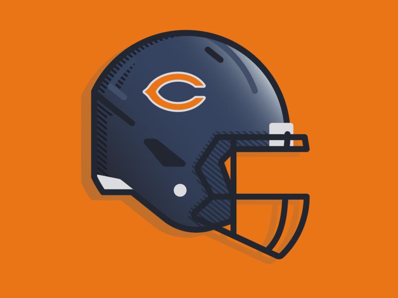 Bear Down helmet logo bear down chicago nfl football helmet football bears da bears chicago bears