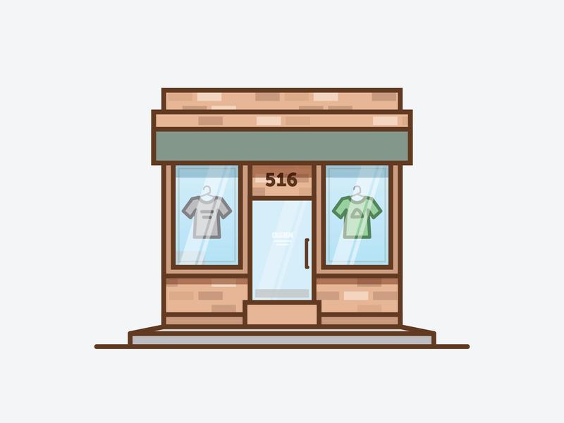 Storefront building shop storefront tshirt