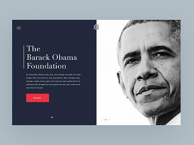 Obama Foundation president donate hero non-profit foundation politics obama